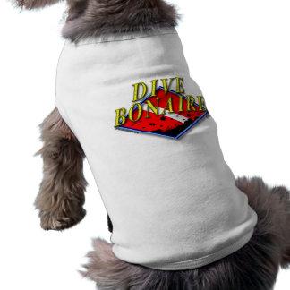 飛び込みのボネール犬のTシャツ ペット服