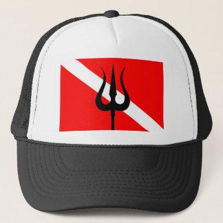 飛び込みの旗の三叉の矛 キャップ
