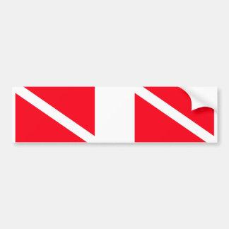 飛び込みの旗は二倍になります バンパーステッカー