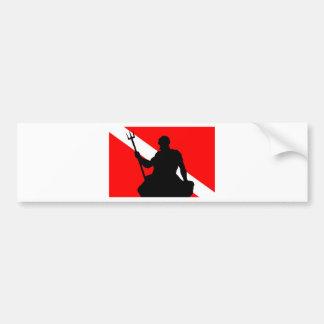飛び込みの旗ネプチューン バンパーステッカー