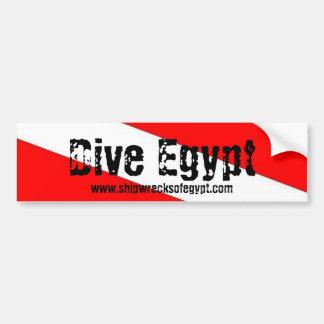 飛び込みエジプト豊富なSticke、Shipwrecksofegypt.com バンパーステッカー