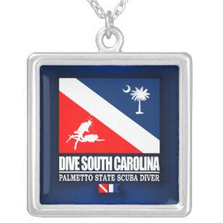 飛び込みサウスカロライナ シルバープレートネックレス