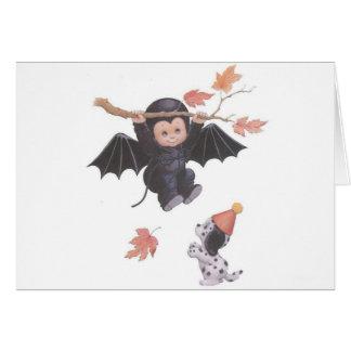 飛ぶことを試みること! -ハロウィンの挨拶状 カード