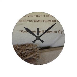 飛ぶために生まれて下さい ラウンド壁時計