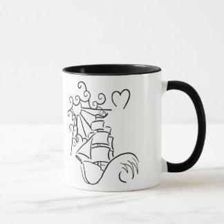 飛ぶ人のマグ マグカップ