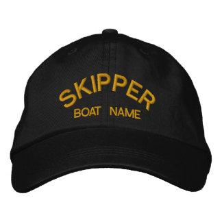 飛ぶ人及びボートの一流の船員の帽子 刺繍入りキャップ
