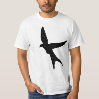 飛ぶ鳥のシルエット Tシャツ