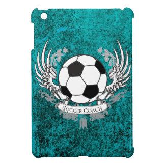 飛んだサッカーのコーチのティール(緑がかった色)の動揺してな石造りの例 iPad MINIカバー