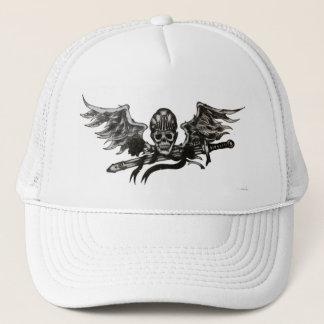 飛んだスカルの帽子 キャップ