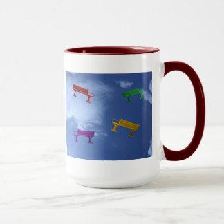 飛んだベンチ マグカップ