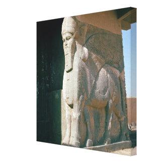 飛んだ人間頭の雄牛、新アッシリアの期間 キャンバスプリント