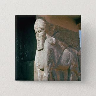 飛んだ人間頭の雄牛、新アッシリアの期間 5.1CM 正方形バッジ