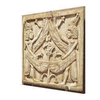 飛んだ天才、アッシリアの期間、c.750紀元前に(アイボリー) キャンバスプリント