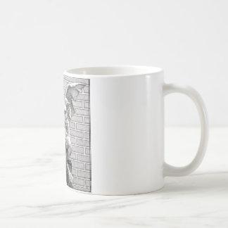 飛んだ石造りのガーゴイル コーヒーマグカップ