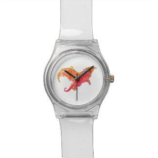 飛んだ赤いドラゴン 腕時計