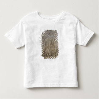 飛んだ魔神を描写するレリーフ、浮き彫り トドラーTシャツ