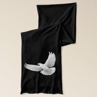飛んでいるで白い平和鳩のスカーフ スカーフ