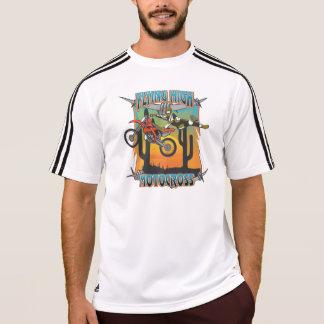 飛んでいるで高いモトクロス Tシャツ
