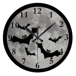 飛んでいるなこうもりの柱時計 ラージ壁時計