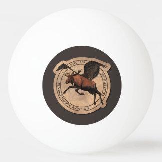 飛んでいるなアメリカヘラジカの航空パッチ 卓球ボール