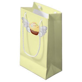 飛んでいるなカップケーキのバッグ スモールペーパーバッグ