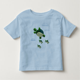 飛んでいるなカメ トドラーTシャツ