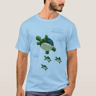 飛んでいるなカメ Tシャツ
