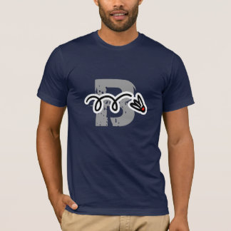 飛んでいるなシャトルが付いているクールなバドミントンプレーヤーのTシャツ Tシャツ