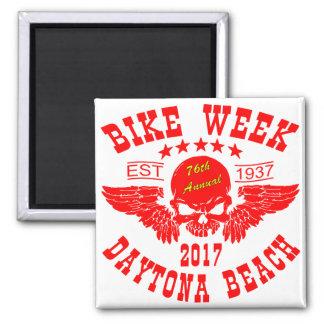 飛んでいるなスカル第76のDaytona Beachのバイク週2017r マグネット