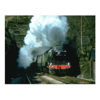 飛んでいるなスコットランド人は男爵でWトンネルの間でつかまえました ポストカード