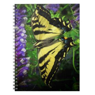 飛んでいるなトラの蝶および青い鐘 ノートブック