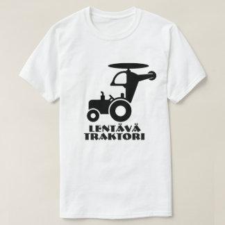 飛んでいるなトラクターおよび文字のlentäväのtraktori tシャツ