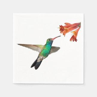 飛んでいるなハチドリの紙ナプキン スタンダードカクテルナプキン