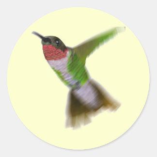 飛んでいるなハチドリ ラウンドシール
