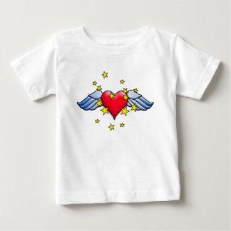 飛んでいるなハート ベビーTシャツ