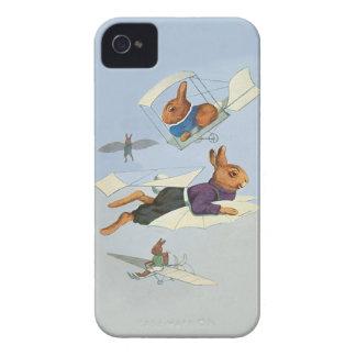飛んでいるなバニーウサギ-かわいくおもしろいなヴィンテージ Case-Mate iPhone 4 ケース
