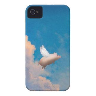 飛んでいるなブタのブラックベリーの箱 Case-Mate iPhone 4 ケース