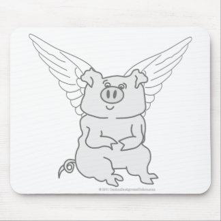 飛んでいるなブタの漫画 マウスパッド