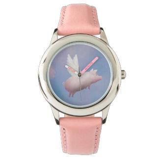 飛んでいるなブタの腕時計 腕時計