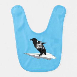 飛んでいるなペンギンのよだれかけ ベビービブ