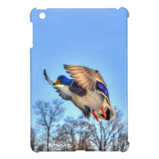 飛んでいるなマガモのアヒルのドレークの野性生物の写真 iPad MINI CASE