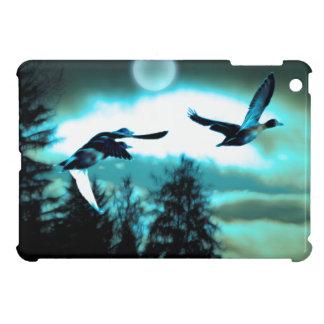 飛んでいるなマガモは野性生物の芸術のiPadの場合を引込めます iPad Miniケース