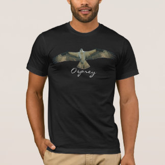 飛んでいるなミサゴの猛禽の鳥恋人のTシャツ Tシャツ