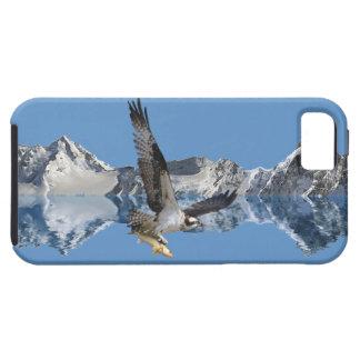 飛んでいるなミサゴ、魚及び山の野性生物の芸術 iPhone SE/5/5s ケース