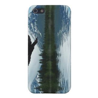 飛んでいるなワタリガラス及び湖の野性生物の自然の芸術 iPhone SE/5/5sケース