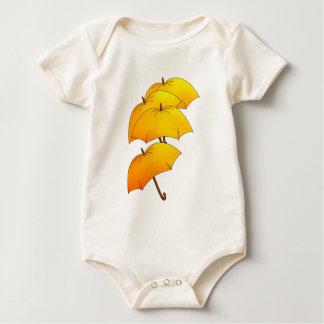 飛んでいるな傘 ベビーボディスーツ