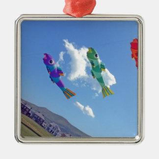飛んでいるな凧 メタルオーナメント