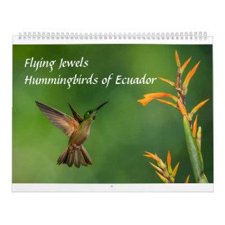 飛んでいるな宝石: エクアドルのハチドリ カレンダー