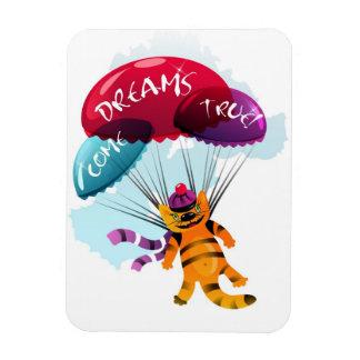 飛んでいるな猫の写真が付いている磁石 マグネット