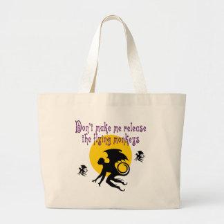 飛んでいるな猿のトートバック ラージトートバッグ